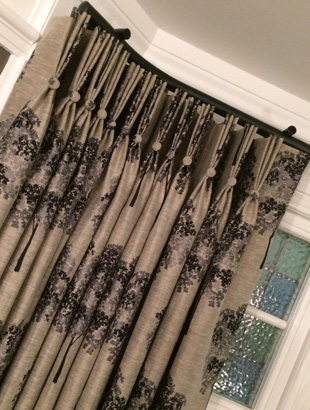 Pleated curtains made in Leamington Spa