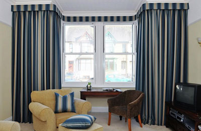 Bespoke curtains for bay window
