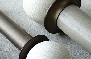 Curtain poles and finials